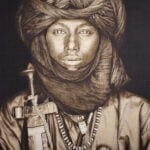 Gobelinbild Dawo Fulani Tribe - Sepia