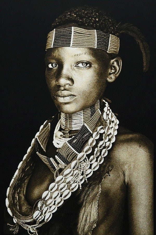 Gobelinbild-Hamar-Lady-Ethiopia