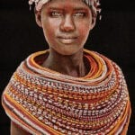 Gobelinbild Samburu Girl - Black