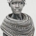 Gobelinbild Samburu Girl - Creme