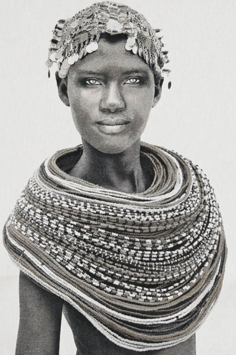Gobelinbild-Samburu-Girl-Creme