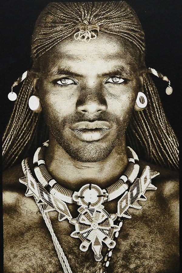 Gobelinbild-Samburu-Warrior -Kenya