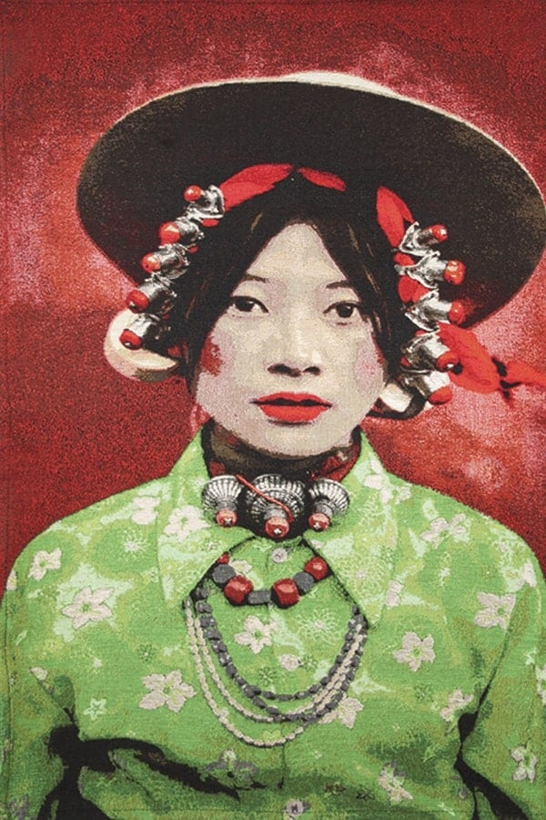 Gobelinbild-Tibetan-Girl