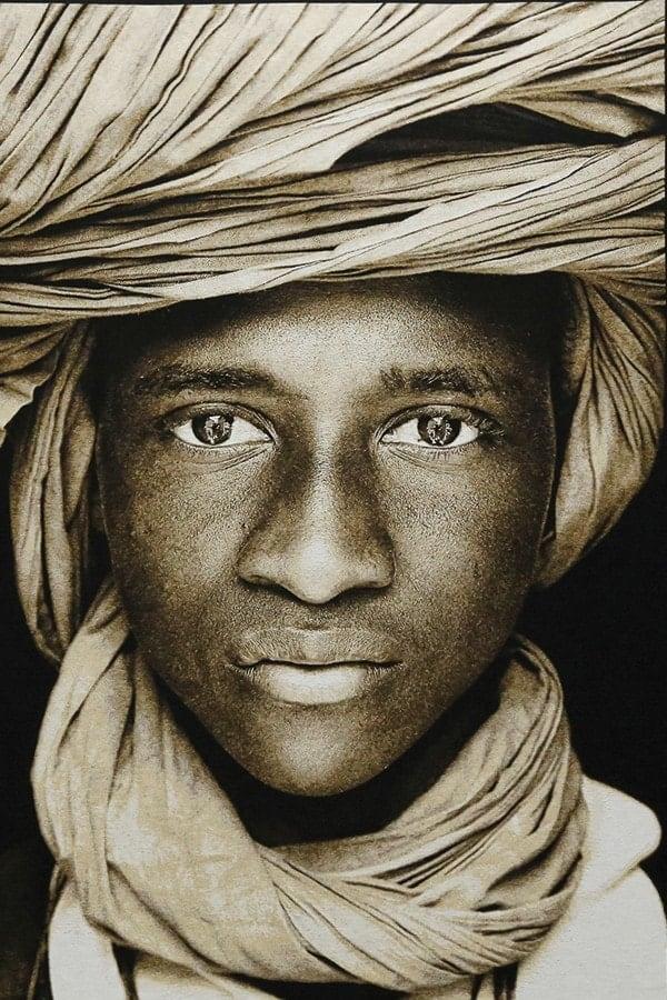 Gobelinbild-Tuareg-Boy-Mali