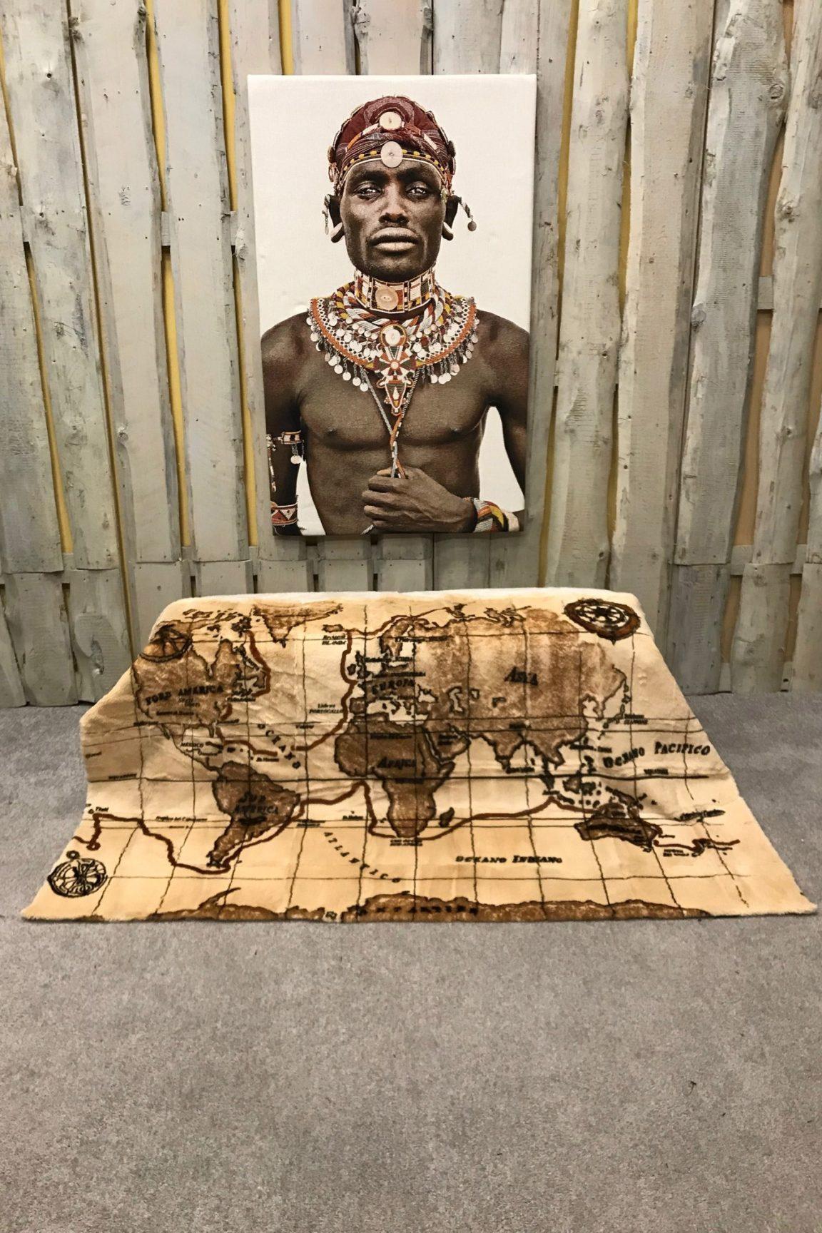 Kanin Decke geschoren Weltkarte