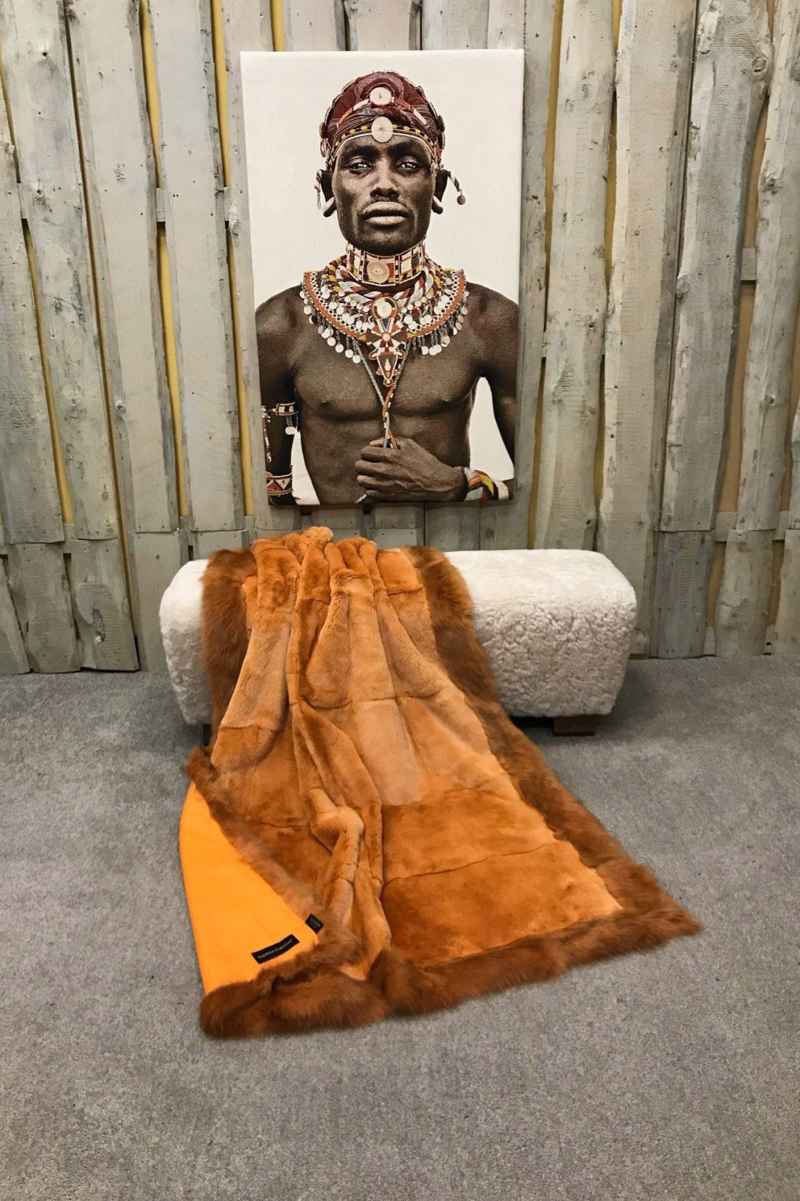 Rexkanin Decke mit Fuchskante