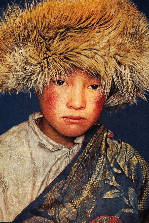 Gobelinbild-Tibetan-Boy-Blue