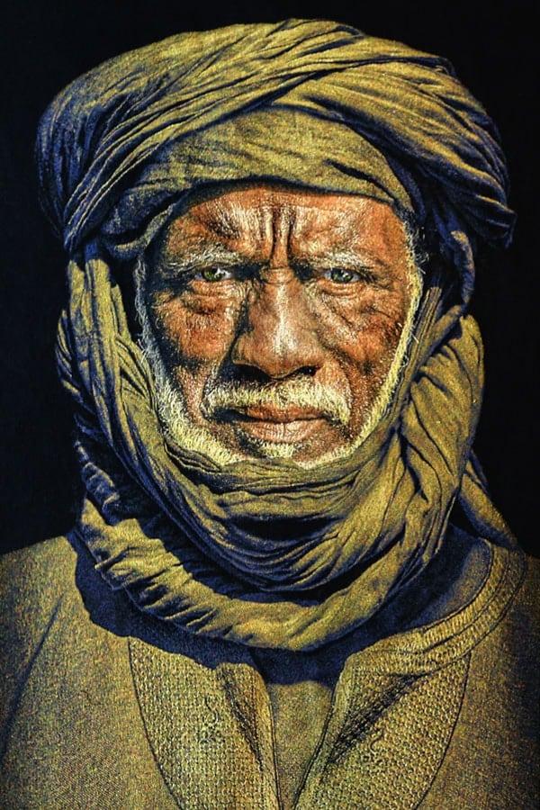 Gobelinbild-Tuareg-Man-Black