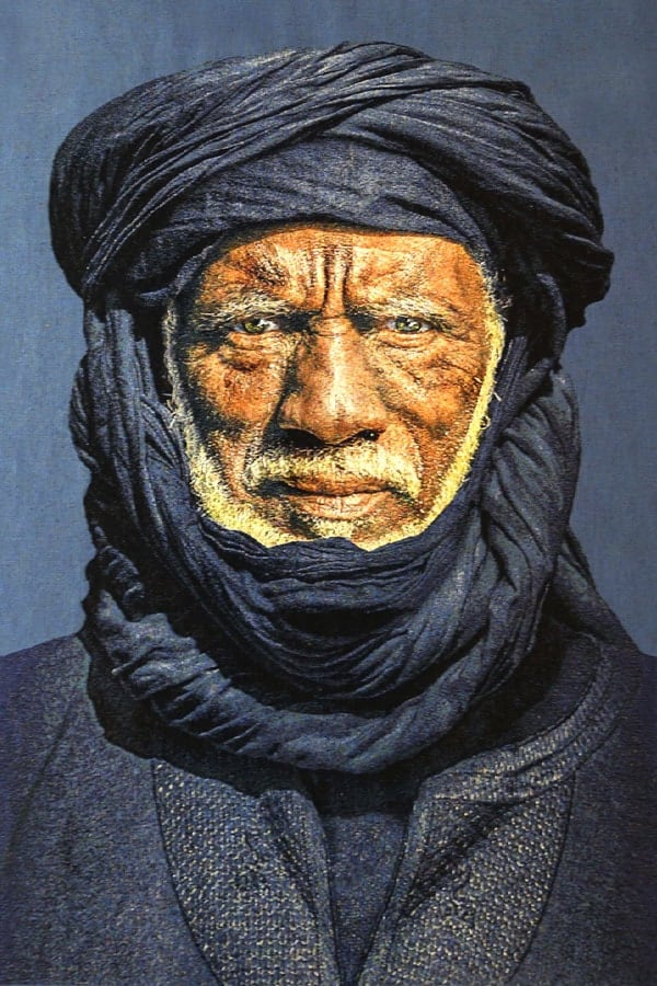 Gobelinbild-Tuareg-Man-Indigo-Blue